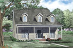 Farmhouse Plan Front of Home - 055D-0871 | House Plans and More