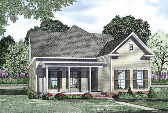 Ranch House Plan Front of Home - 055D-0872 | House Plans and More