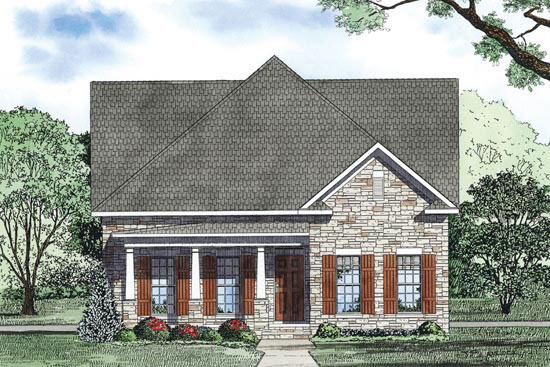 Farmhouse Plan Front Image - 055D-0873 | House Plans and More
