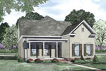 Farmhouse Plan Front of Home - 055D-0873 | House Plans and More