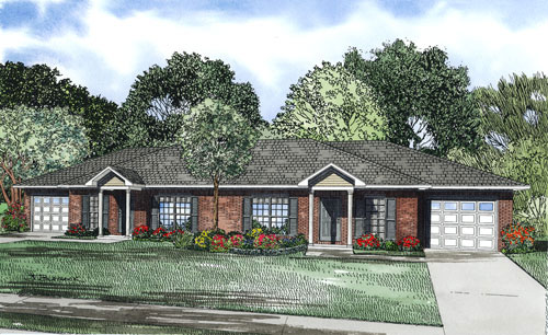 Multi-Family House Plan Front Image - 055D-0874 | House Plans and More