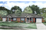 Ranch House Plan Front Image - 055D-0874 | House Plans and More