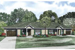 Multi-Family House Plan Front of Home - 055D-0874 | House Plans and More