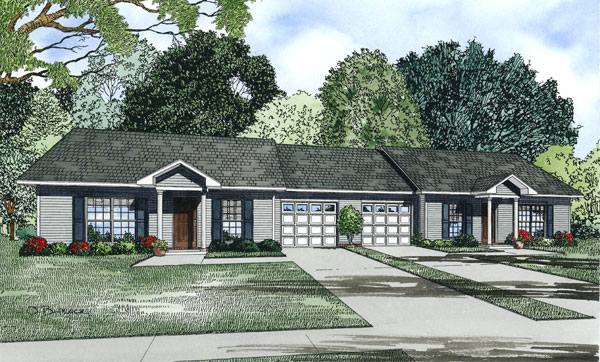 Ranch House Plan Front Image - 055D-0875 | House Plans and More