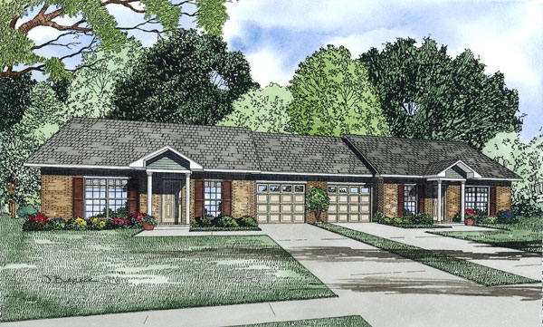 Ranch House Plan Front of Home 055D-0875