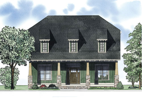 Craftsman House Plan Front of Home - 055D-0876 | House Plans and More