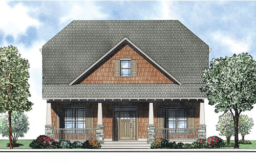 Craftsman House Plan Front of Home - 055D-0877 | House Plans and More