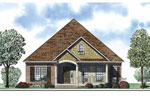 Ranch House Plan Front of Home - 055D-0878 | House Plans and More