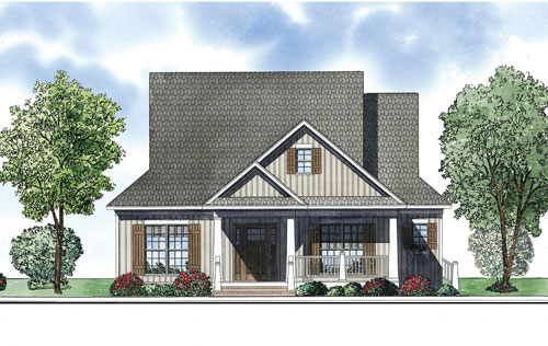 Rustic Home Plan Front of Home - 055D-0879 | House Plans and More
