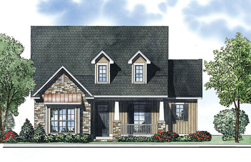 Ranch House Plan Front of Home - 055D-0880 | House Plans and More