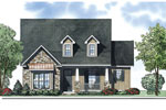 Arts and Crafts House Plan Front of Home - 055D-0880 | House Plans and More