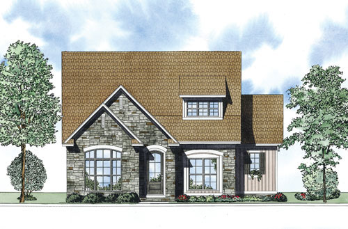 Ranch House Plan Front of Home - 055D-0881 | House Plans and More