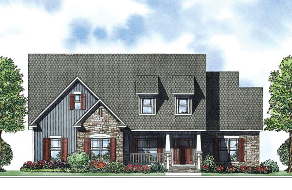 Arts and Crafts House Plan Front of Home - 055D-0882 | House Plans and More