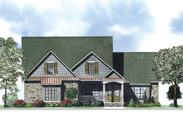 Arts and Crafts House Plan Front of Home - 055D-0883 | House Plans and More