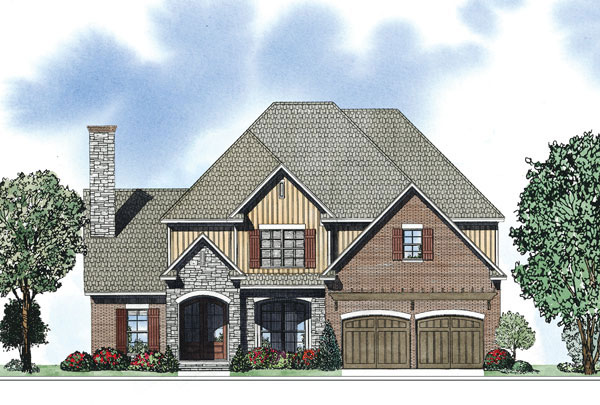 Traditional House Plan Front of Home - 055D-0884 | House Plans and More