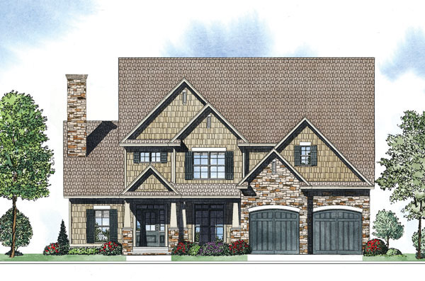 Arts and Crafts House Plan Front of Home - 055D-0885 | House Plans and More