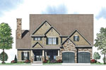 Craftsman House Plan Front of Home - 055D-0885 | House Plans and More