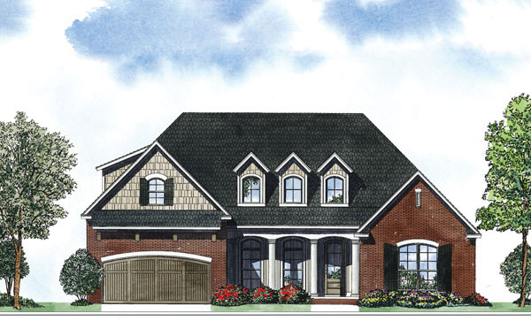 Traditional House Plan Front of Home - 055D-0887 | House Plans and More