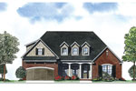 Ranch House Plan Front of Home - 055D-0887 | House Plans and More