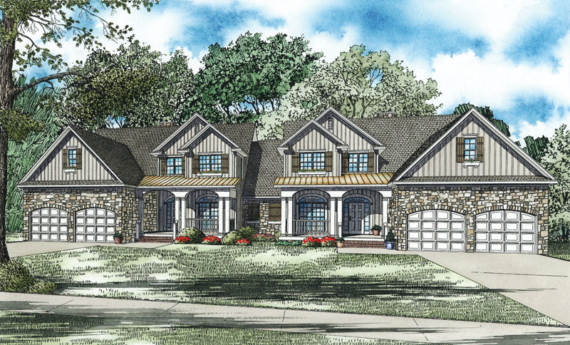Craftsman House Plan Front of Home - 055D-0888 | House Plans and More