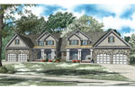 Multi-Family House Plan Front of Home - 055D-0888 | House Plans and More