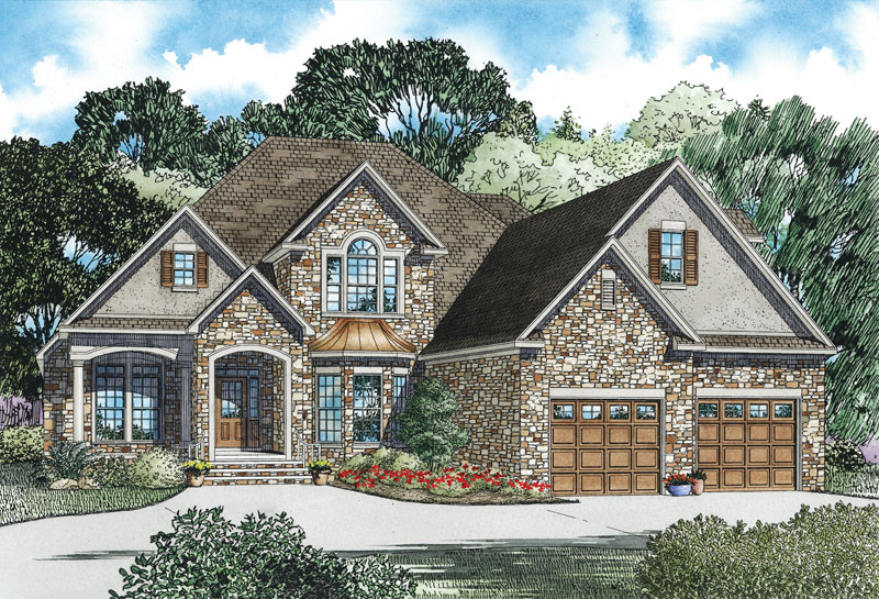European House Plan Front of Home - 055D-0889 | House Plans and More