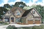 Craftsman House Plan Front of Home - 055D-0889 | House Plans and More