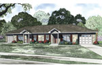 Ranch House Plan Front of Home - 055D-0890 | House Plans and More
