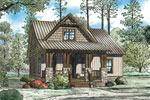 Rustic Home Plan Front of Home - 055D-0892 | House Plans and More