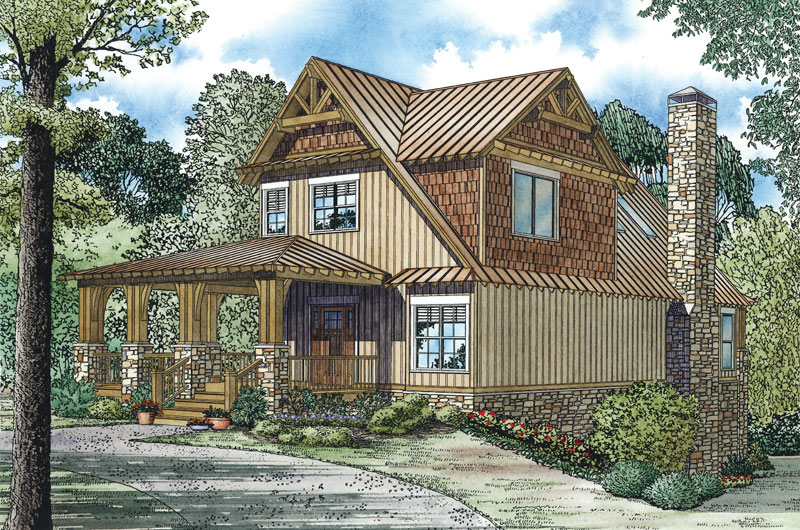 Cabin & Cottage House Plan Front Image - 055D-0893 | House Plans and More