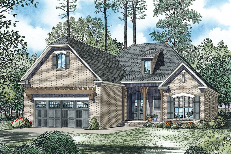 English Cottage House Plan Front Image - 055D-0894 | House Plans and More