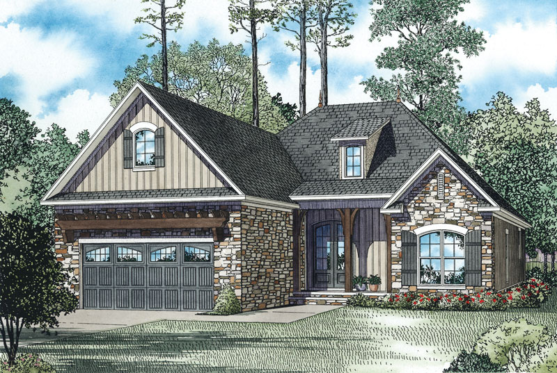 Ranch House Plan Front Image - 055D-0894 | House Plans and More
