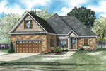 Ranch House Plan Front of Home - 055D-0895 | House Plans and More