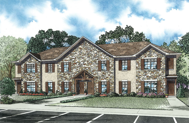 Multi-Family House Plan Front of Home - 055D-0896 | House Plans and More