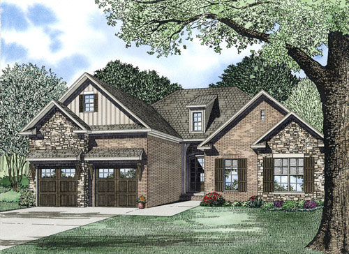 Early American House Plan Front of Home - 055D-0899 | House Plans and More