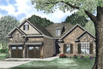 Ranch House Plan Front of Home - 055D-0899 | House Plans and More