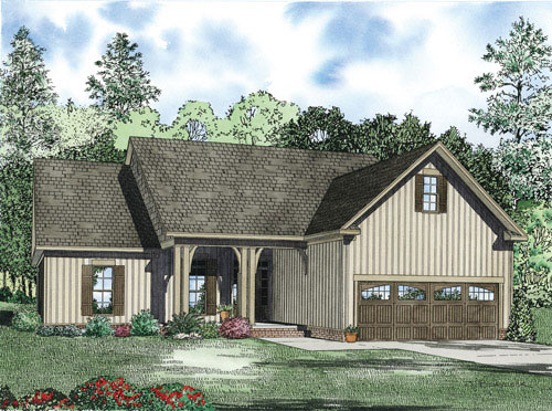 Ranch House Plan Front of Home - 055D-0900 | House Plans and More