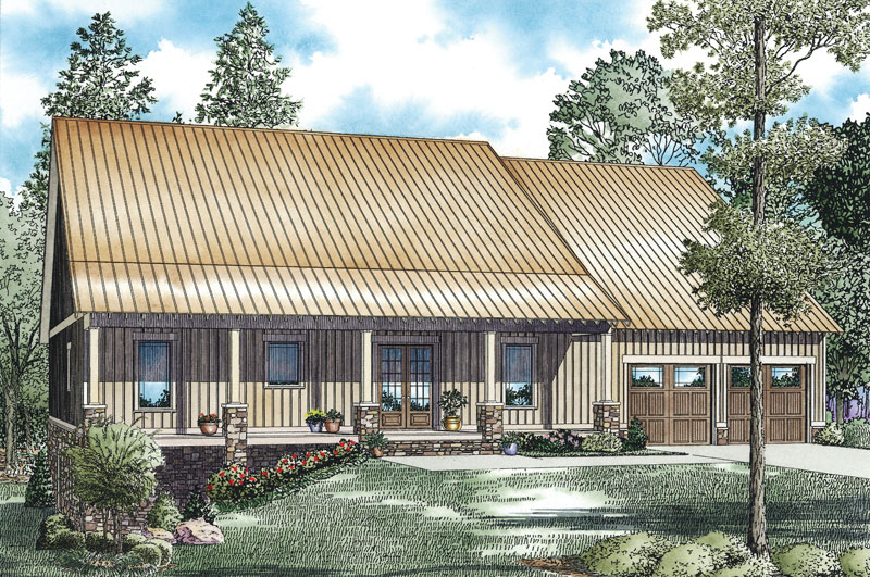 Rustic Home Plan Front of Home - 055D-0903 | House Plans and More