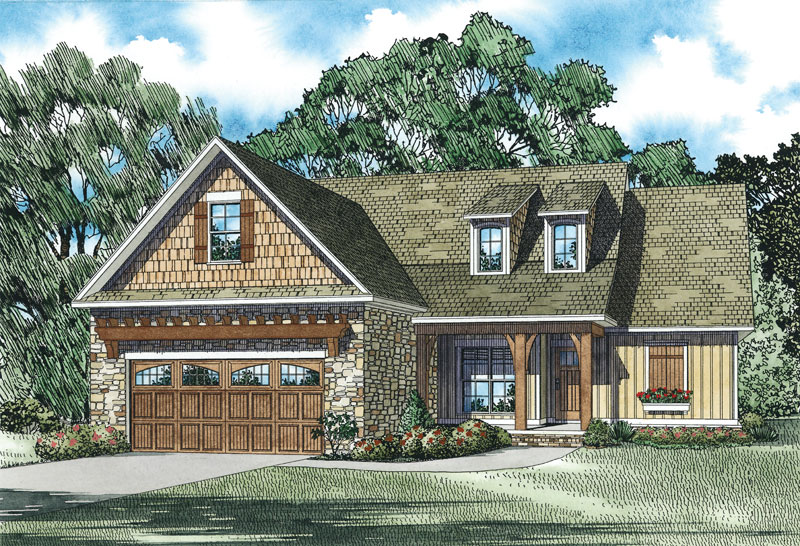 Rustic Home Plan Front of Home - 055D-0904 | House Plans and More