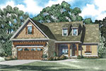 Craftsman House Plan Front of Home - 055D-0904 | House Plans and More