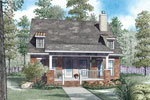 Ranch House Plan Front of Home - 055D-0910 | House Plans and More