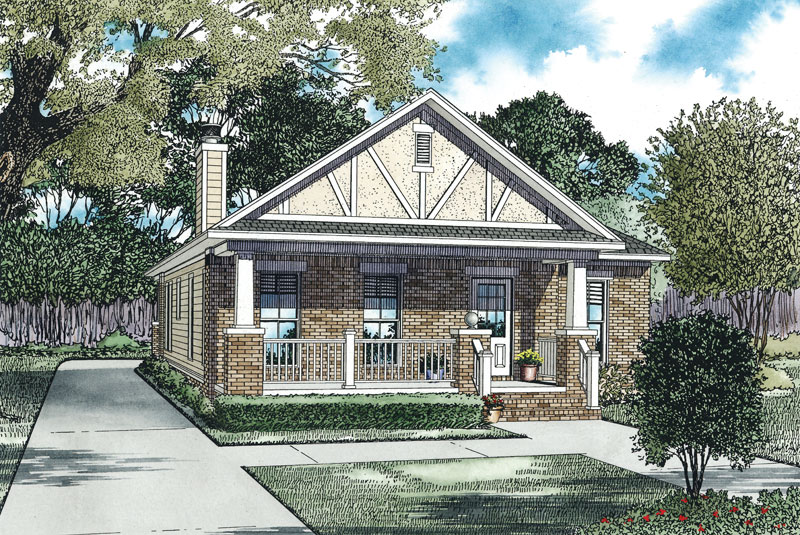 Ranch House Plan Front of Home - 055D-0911 | House Plans and More