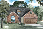 Ranch House Plan Front of Home - 055D-0912 | House Plans and More