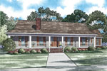 Farmhouse Plan Front of Home - 055D-0913 | House Plans and More