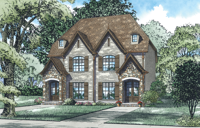 European House Plan Front of Home - 055D-0931 | House Plans and More