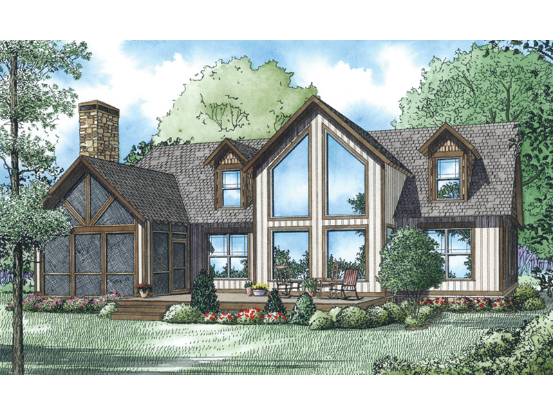 Rustic Home Plan Rear Photo 01 - 055D-0933 | House Plans and More