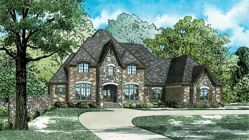 Luxury House Plan Front of Home - 055D-0934 | House Plans and More