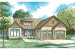 Mountain Home Plan Front of Home - 055D-0953 | House Plans and More