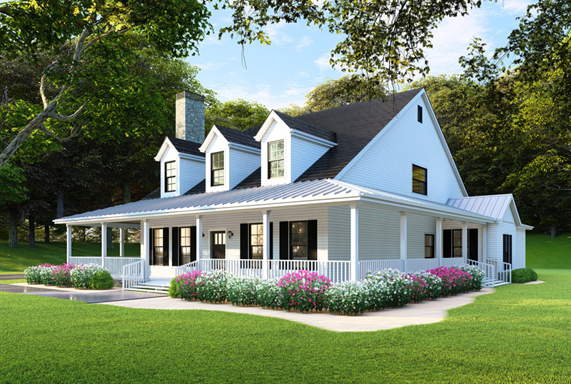 Raven Ranch Country Home Plan 055d 0976 House Plans And More