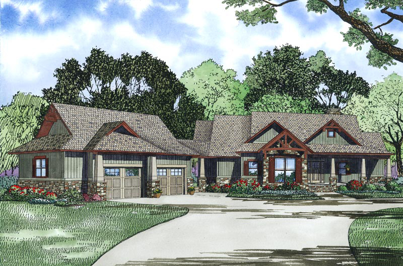 Southern House Plan Front Image - 055D-0977 | House Plans and More